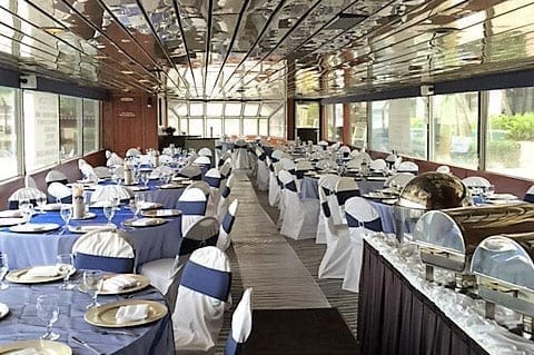 Ft. Lauderdale Yacht Rentals 115' Skipperliner Dining Tables
