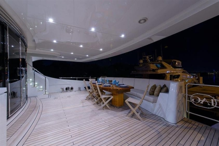 Ft. Lauderdale Yacht Rentals 127' IAG Aft Seating 2