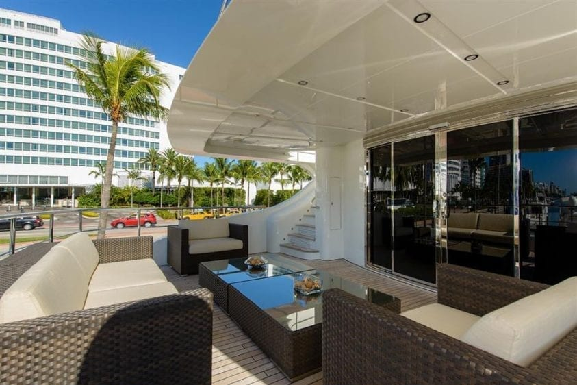 Ft. Lauderdale Yacht Rentals 127' IAG Aft Seating