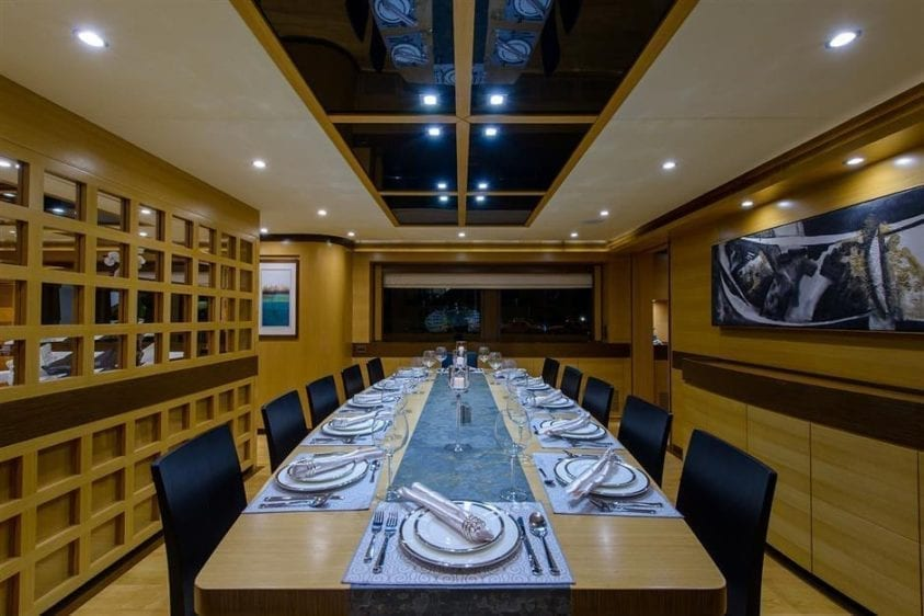 Ft. Lauderdale Yacht Rentals 127' IAG Dining