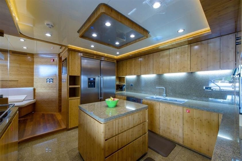 Ft. Lauderdale Yacht Rentals 127' IAG Galley