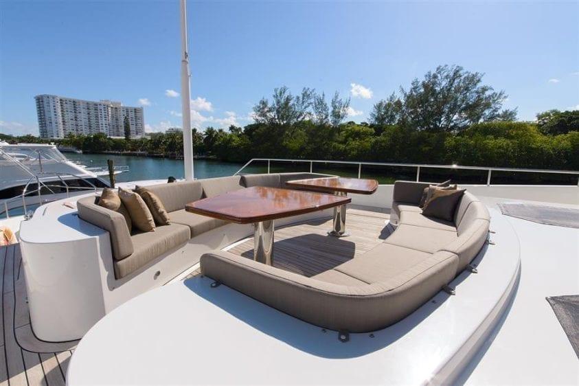 Ft. Lauderdale Yacht Rentals 127' IAG Upper Deck Lounge