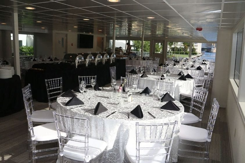 Ft. Lauderdale Yacht Rentals 128' J&M Works Level One With Tables Set