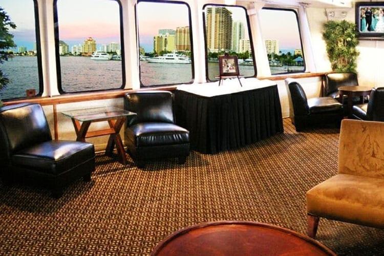Ft. Lauderdale Yacht Rentals 130' Chesapeake Sitting Lounge