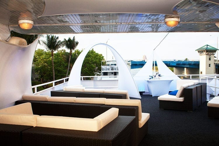 Ft. Lauderdale Yacht Rentals 130' Keith Marine Outdoor Lounge 2