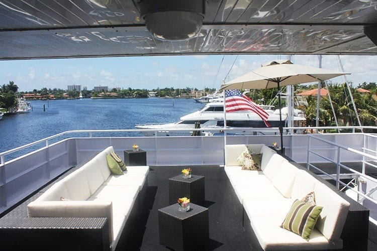 Ft. Lauderdale Yacht Rentals 130' Keith Marine Outdoor Lounge