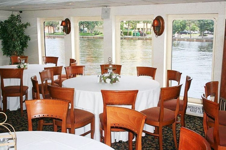Ft. Lauderdale Yacht Rentals 130' Keith Marine Tables