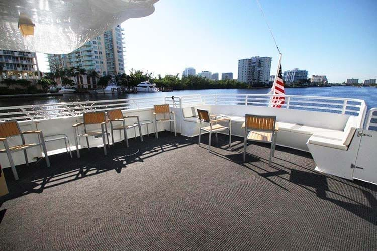 Ft. Lauderdale Yacht Rentals 137' Swiftship Aft Seating