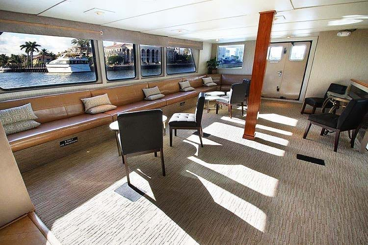 Ft. Lauderdale Yacht Rentals 137' Swiftship Lounge