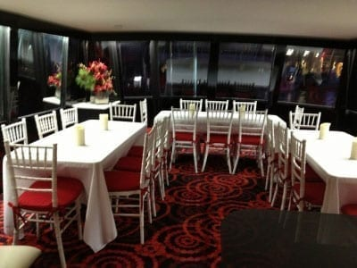Ft. Lauderdale Yacht Rentals 74' Chris Craft Table Seating