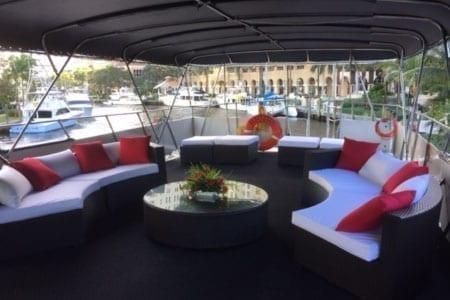 Ft. Lauderdale Yacht Rentals 74' Chris Craft Upper Deck