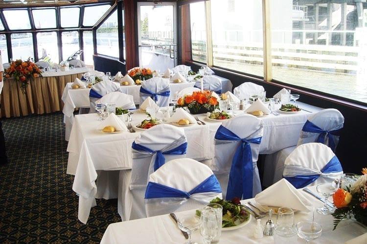 Ft. Lauderdale Yacht Rentals 80' Skipperliner Tables Set