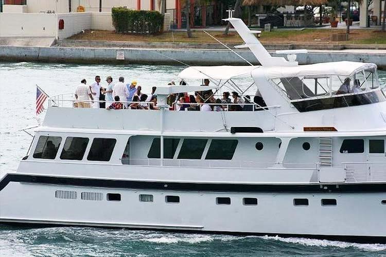 Ft. Lauderdale Yacht Rentals 91' Striker Side
