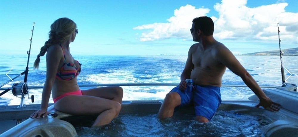 Hawaii Yacht Rentals 74' Striker Hot Tub and Fishing