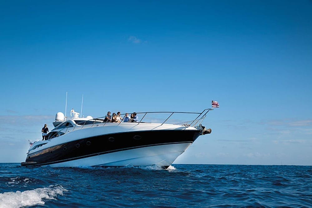Hawaii luxury charter 75' Sunseeker