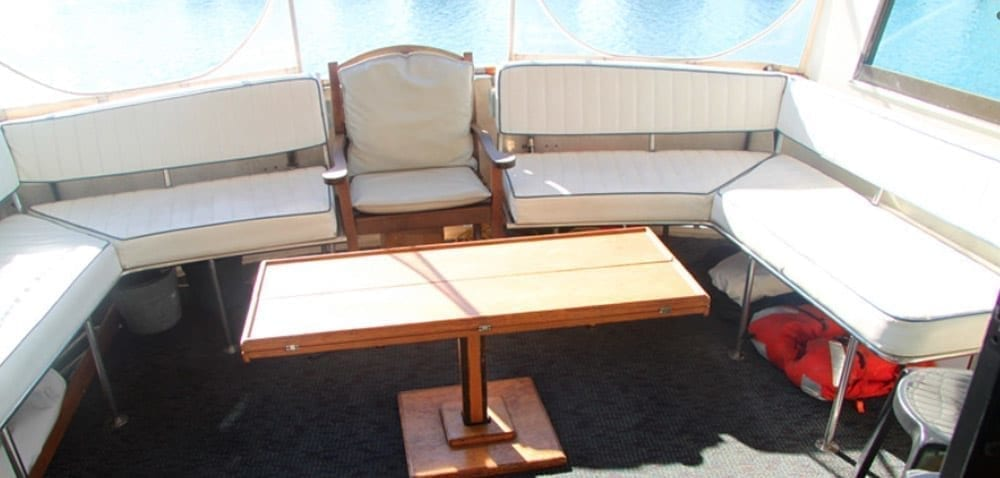 Long Beach Yacht Rentals 58' Hatteras Aft Seating