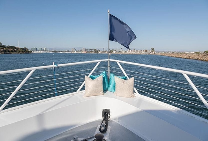 Los Angeles Yacht Rentals 105' Breaux Bow View