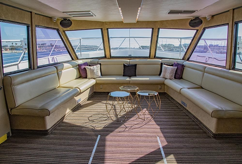 Marina del Rey party yacht charter 105' Breaux Forward Salon