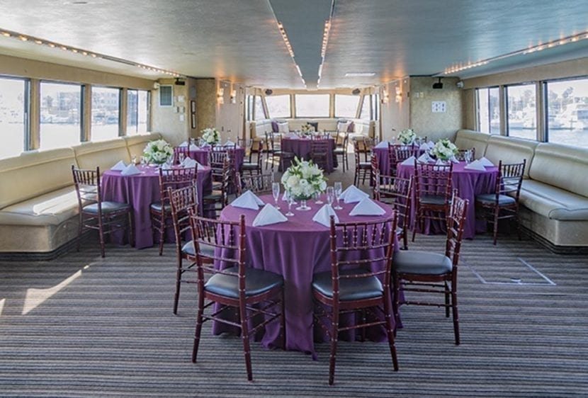 Los Angeles Yacht Rentals 105' Breaux Set Tables 3