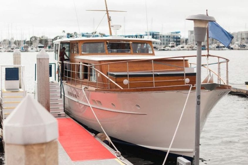 Los Angeles Yacht Rentals 57' Grebe Starboard Side