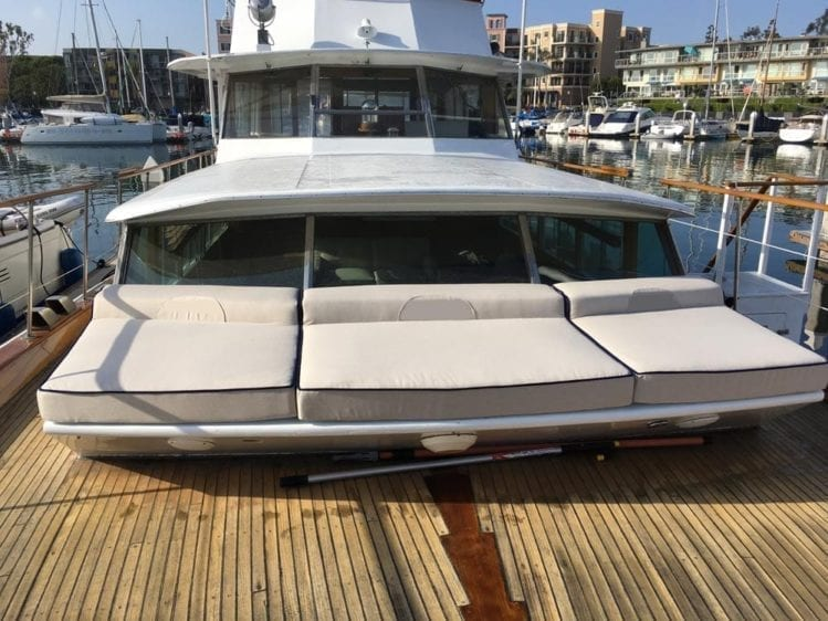 Los Angeles Yacht Rentals 65' Chris Craft Bow Seating