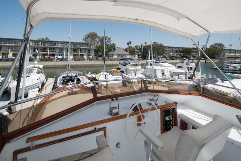Los Angeles Yacht Rentals 65' Chris Craft Upper Helm