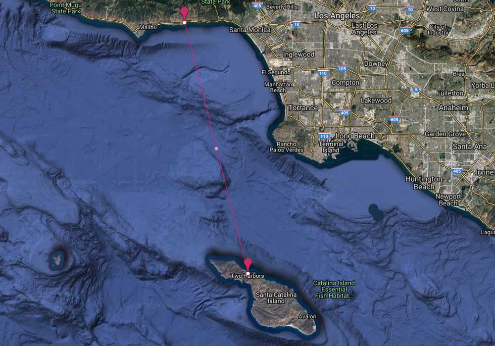Malibu Yacht Rentals to Catalina Two Harbors