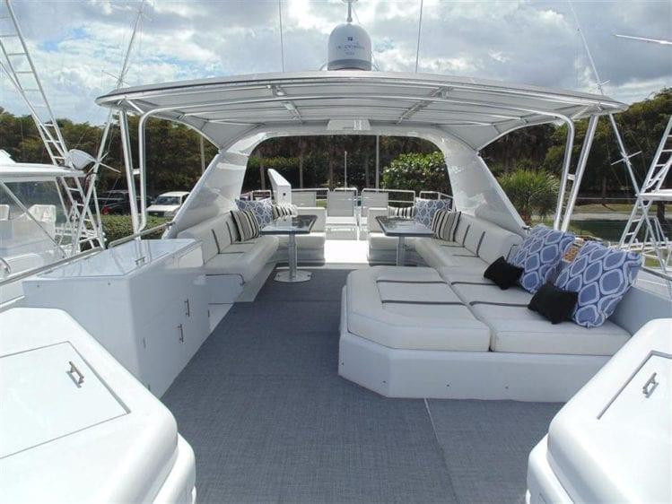 Marina Del Rey Yacht Rentals 100' Azimut Upper Deck