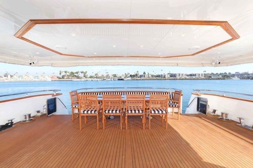 Marina Del Rey Yacht Rentals 125ft Yacht Main Deck Aft