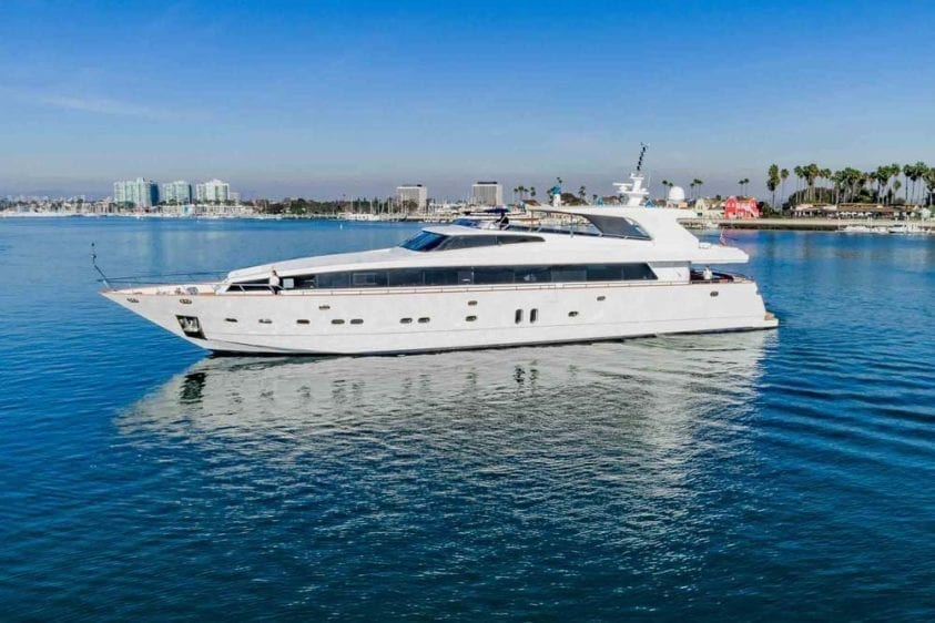 Marina Del Rey Yacht Rentals 125ft Yacht Port Profile