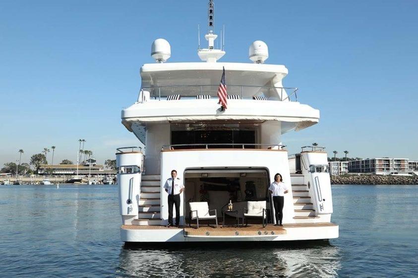 Marina Del Rey Yacht Rentals 125ft Yacht Stern