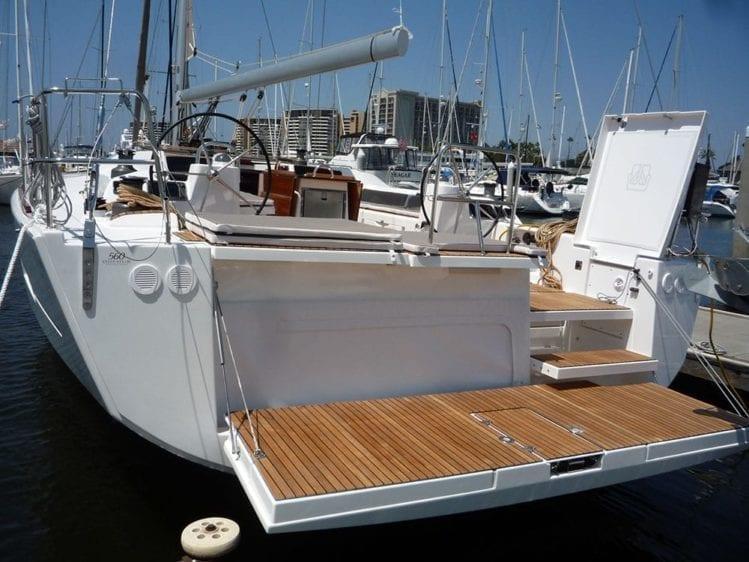 Marina Del Rey Yacht Rentals 56' Dufour Transom Drop