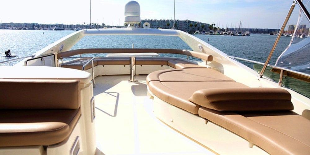 Marina del Rey Luxury yacht rental 65' Ferretti Upper Deck