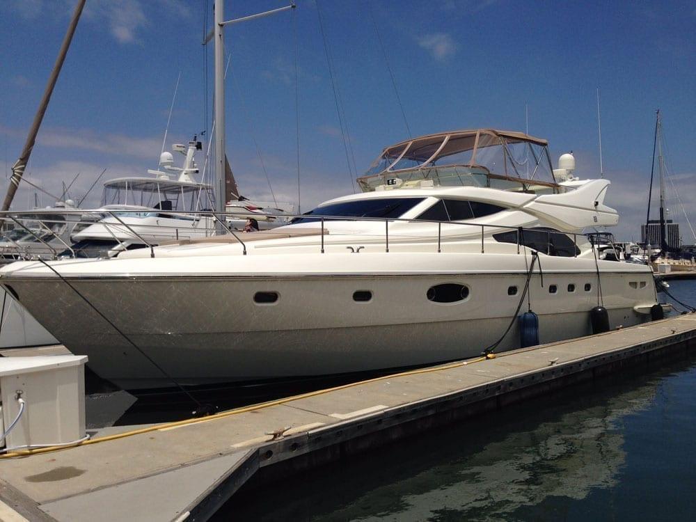Marina del Rey Luxury yacht rental 65' Ferretti