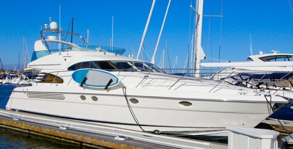 Marina del Rey Yacht Charter 60' Fairline Profile Starboard
