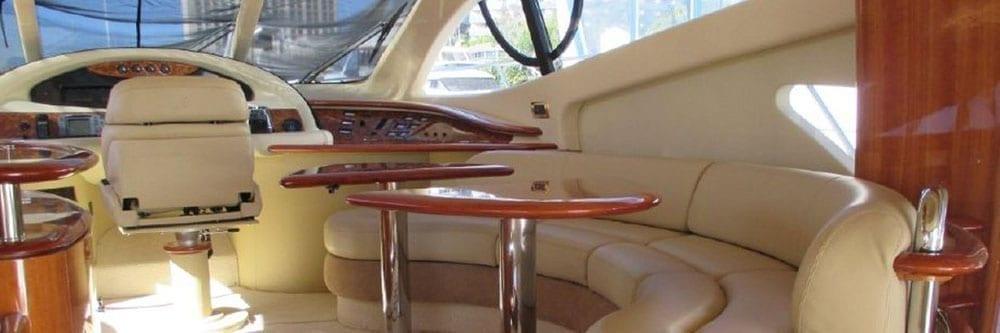 Marina del Rey Yacht Rentals 60' Yacht Interior Seating