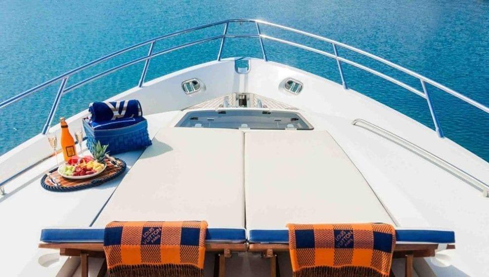 Marina del Rey Yacht Rentals 72' Princess Bow Pads