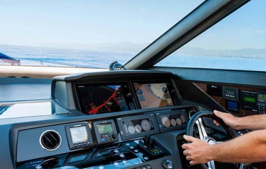 Marina del Rey Yacht Rentals 72' Princess Helm Station