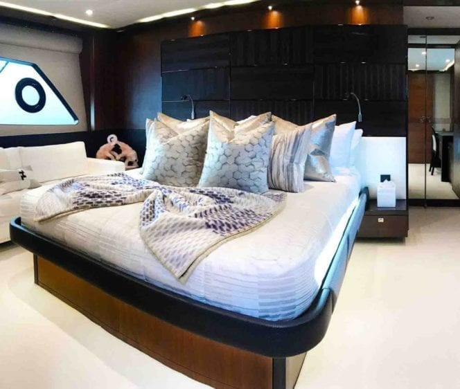 Marina del Rey Yacht Rentals 72' Princess Master Stateroom