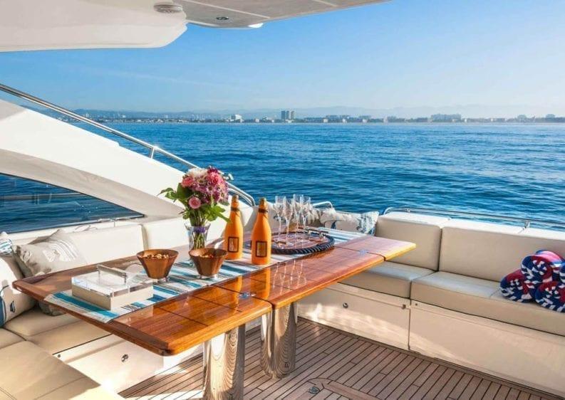 Marina del Rey Yacht Rentals 72' Princess Aft Dining