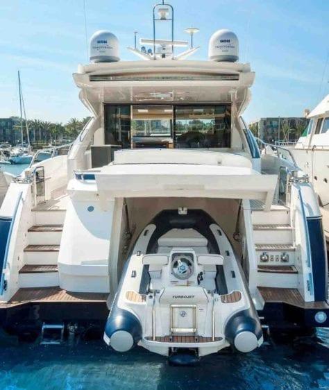 Marina del Rey Yacht Rentals 72' Princess Stern