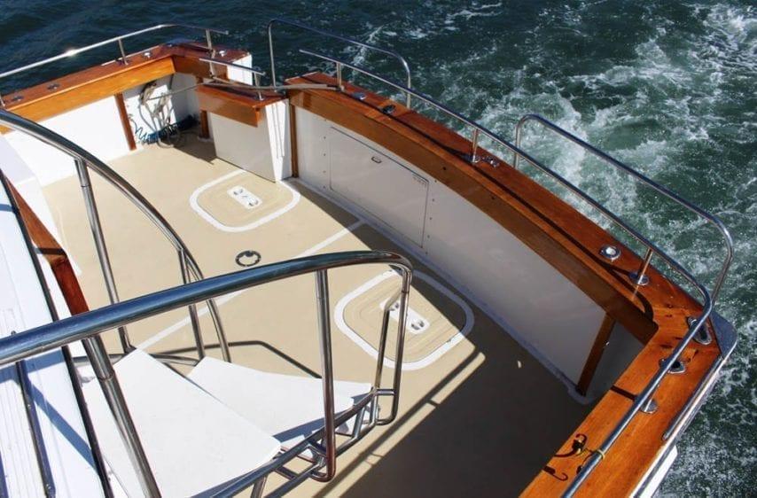 Marina del Rey Yacht Rentals 85' Pacifica Aft Deck