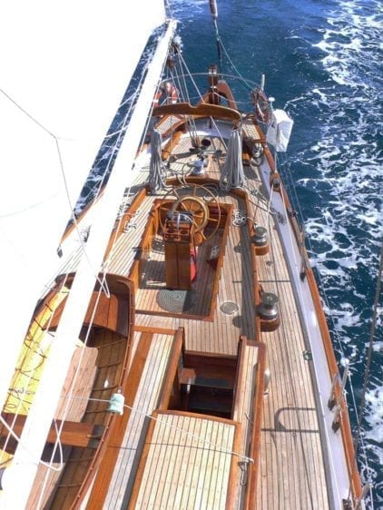 Marina del Rey Yacht Rentals 85' Schooner Above