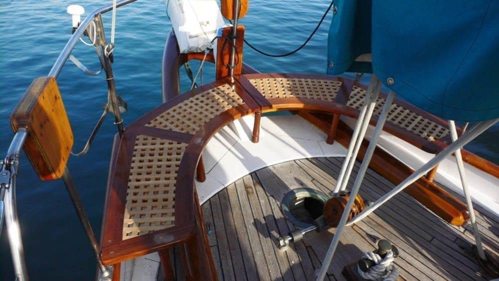 Marina del Rey Yacht Rentals 85' Schooner Stern Seat