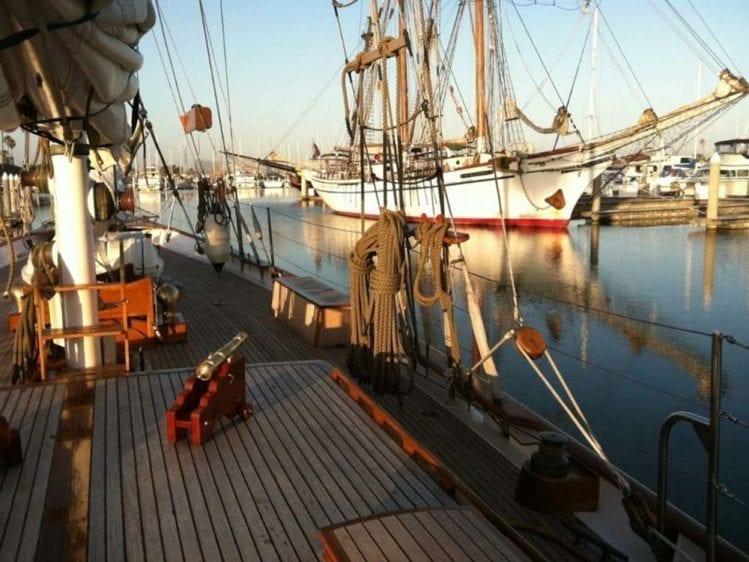 Marina del Rey Yacht Rentals 85' Schooner Forward