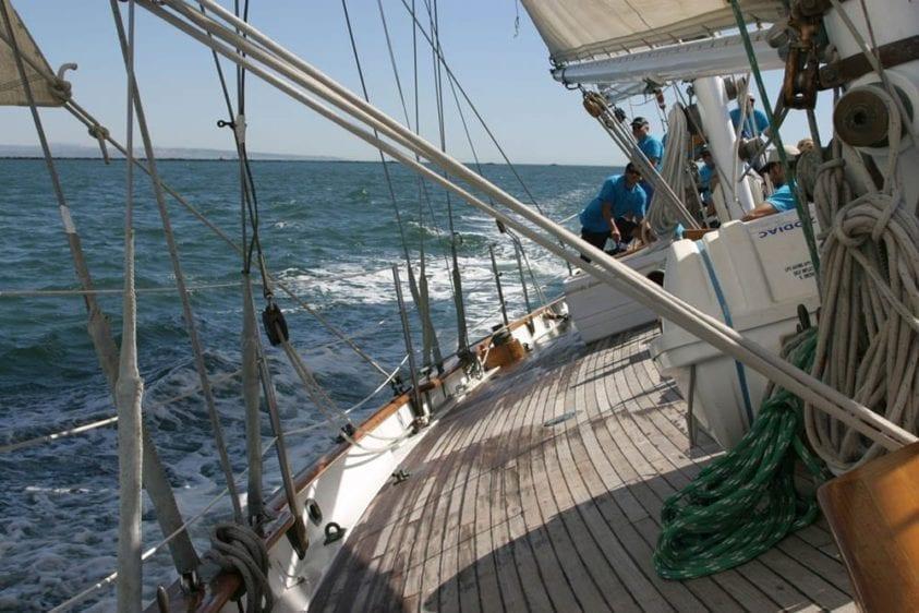 Marina del Rey Yacht Rentals 85' Schooner Full Sail