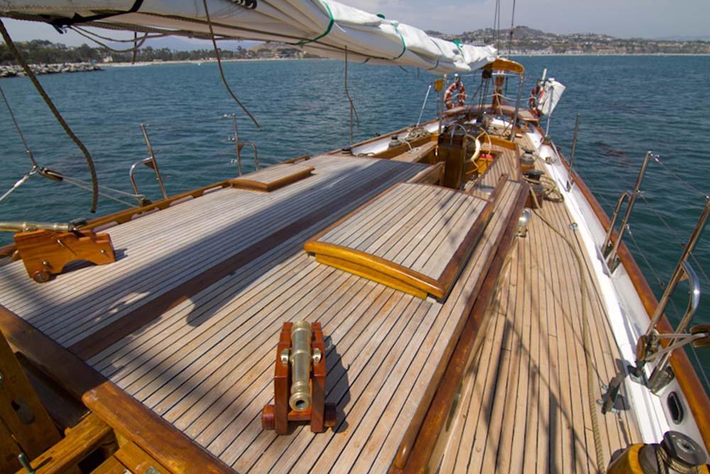 Marina del Rey Sailing Yacht Rentals 85' Schooner Historic Comfort