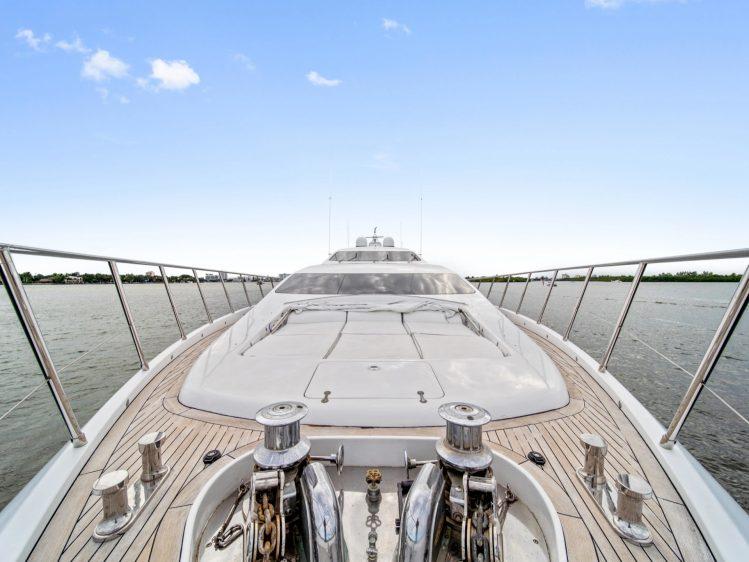 Miami Beach Super yacht charter bow