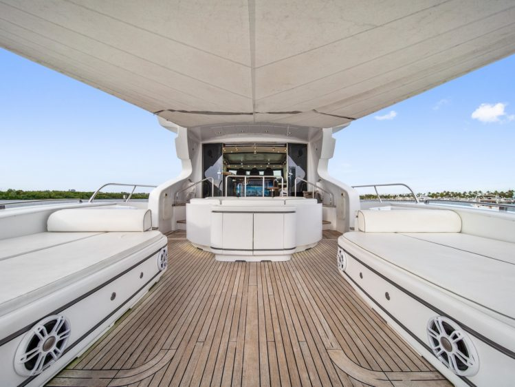Miami Beach Super yacht charter deck area