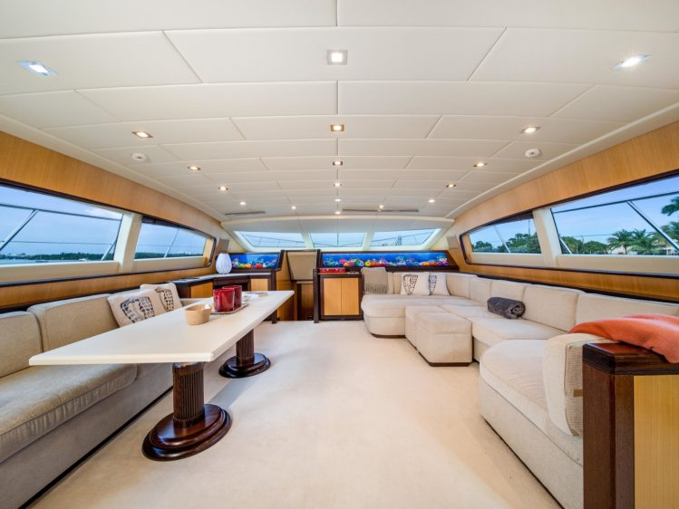 Miami Beach Super yacht charter lounge